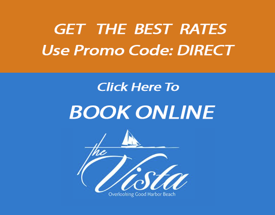 "Book online at The Vista and use code ""Direct"" for the best rate."